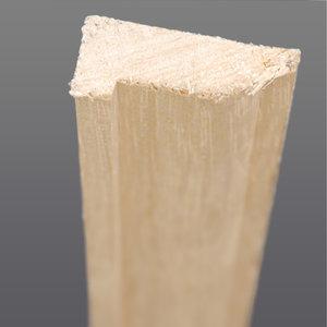 Abachi hoeklat bol 12 x 32 mm