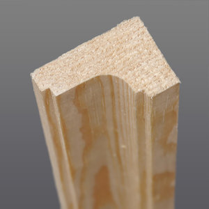 Sierlijke Grenen hoeklat hol 21 x 32 mm