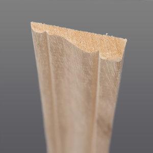 Abachi hoeklat 8 x 36 mm