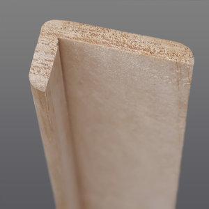 Grenen hoeklat 20 x 44 mm