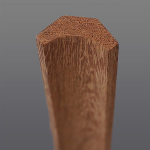 Meranti hoeklat hol 22 x 22 mm