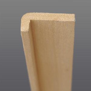 Abachi hoeklat 12 x 30 mm