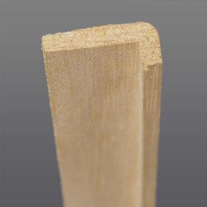 Abachi hoeklat 12 x 32 mm