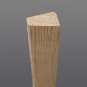 Grenen glaslat 10 x 19 mm