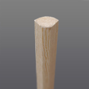 Grenen kwart rondhout 13 x 13 mm