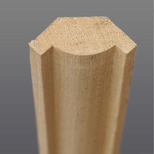 Abachi hoeklat bol 27 x 27 mm