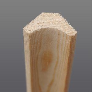 Grenen hoeklat hol 22 x 22 mm