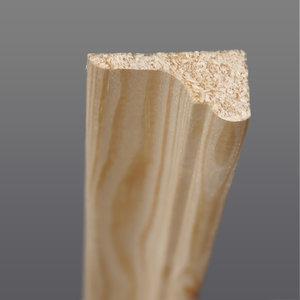 Grenen hoeklat 12 x 30 mm