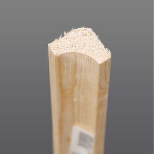 Grenen hoeklat hol 16 x 16 mm
