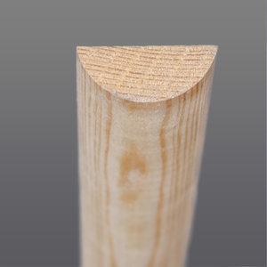 Grenen half rondhout 9 x 22 mm
