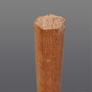 Meranti hoeklat bol 16 x 16 mm