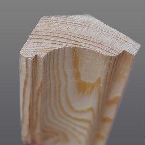 Grenen hoeklijst 33 x 46 mm