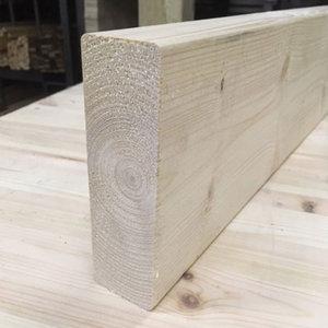 Espen hout 21x90mm met ronde hoeken